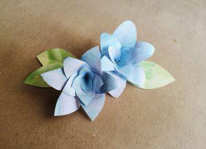 цветы из акварельной бумаги 5