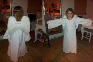 Костюм ангела для девочки своими руками