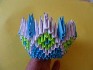 Модульное оригами - конфетница17