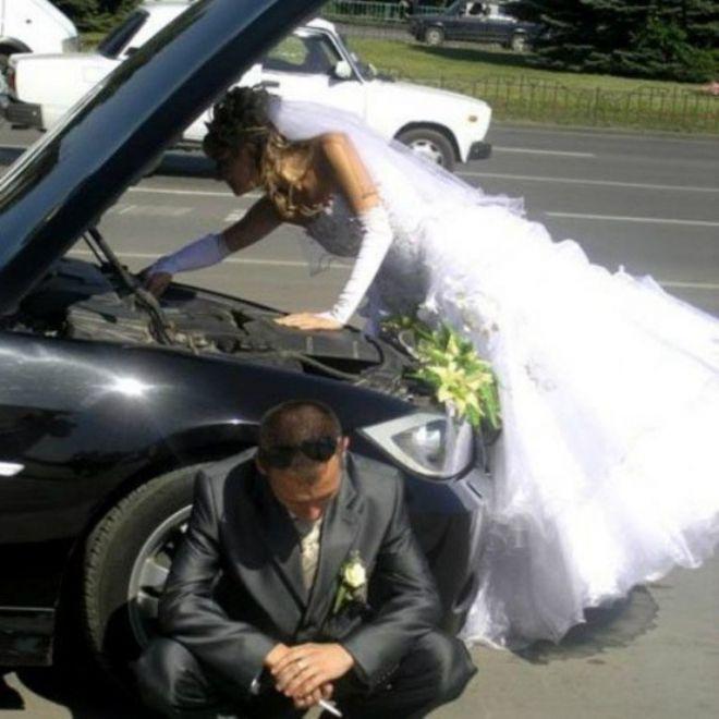 Невеста и машина