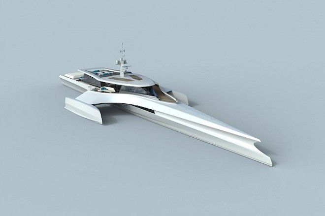 Суперсовременная яхта
