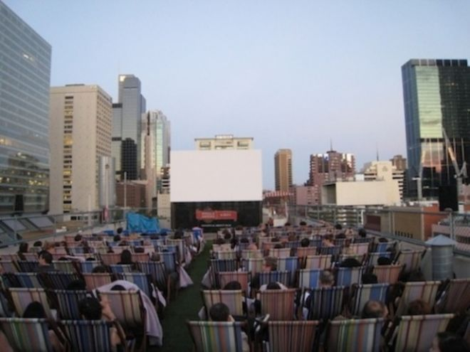 Rooftop Cinema экран