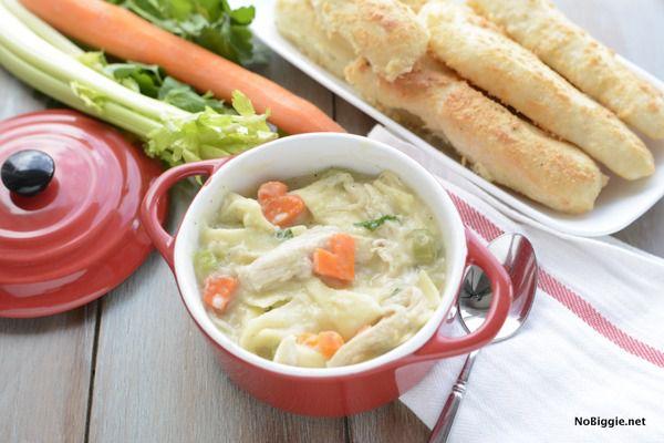 Куриный суп с морковными сердечками