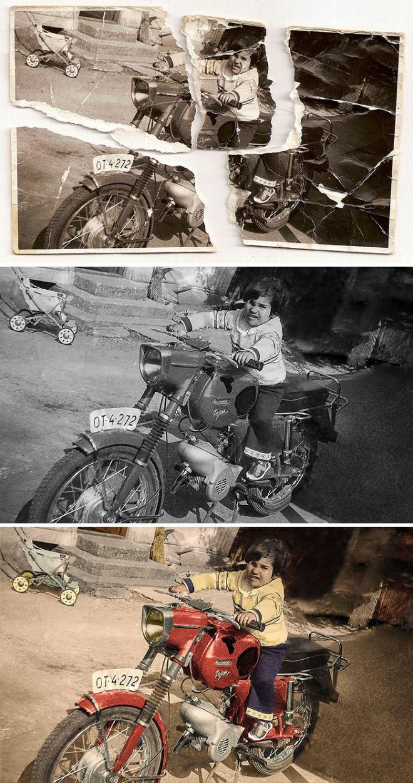 Ребенок на мотоцикле