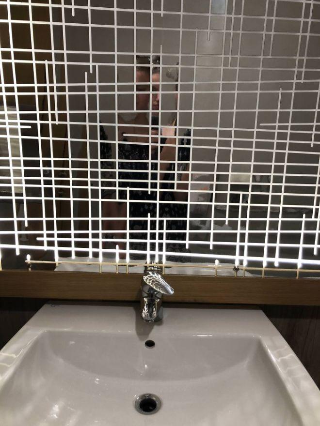 Зеркало в квадратах