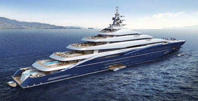 Огромная яхта