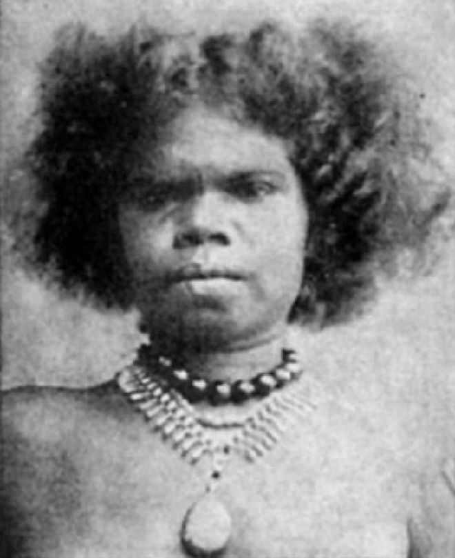 Старинное фото аборигена