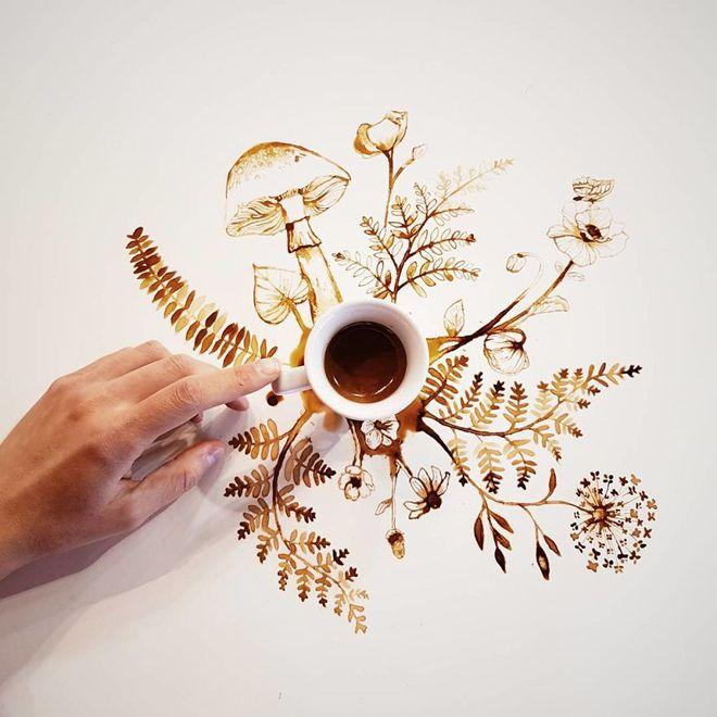 из одной чашки кофе