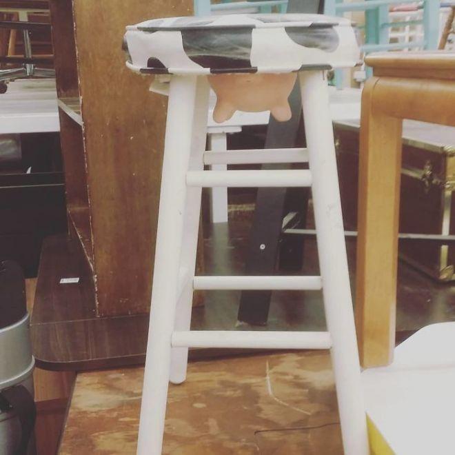 Барный стул с выменем
