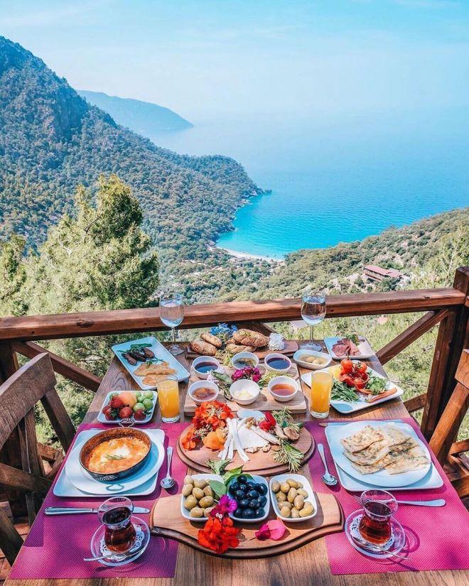 Завтрак в Фетхие, Турция