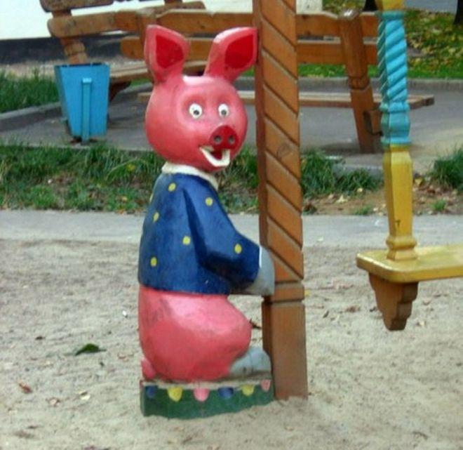 свинья сама в шоке