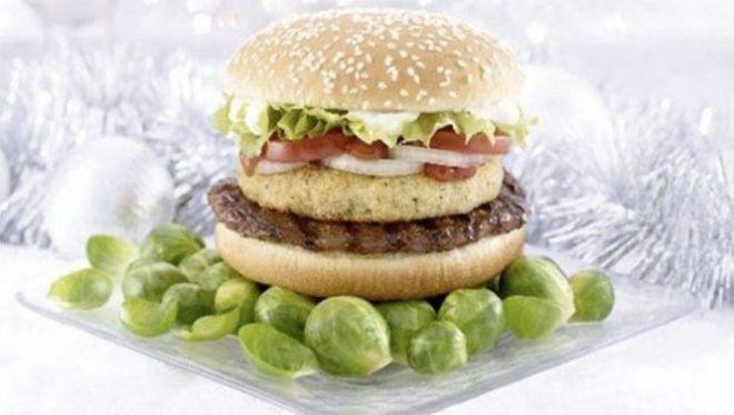 Гамбургер с брюссельской капустой