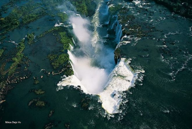 Водопады Игуасу, граница Аргентины и Бразилии