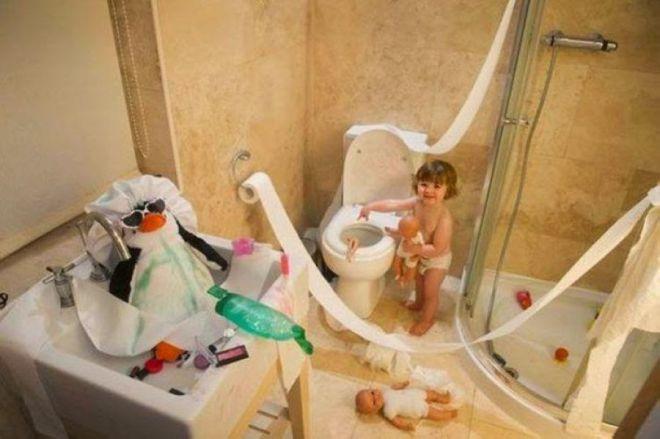 Мам, наша ванная теперь самая нарядная!