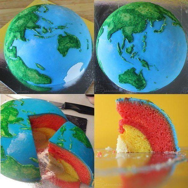Торт планета Земля