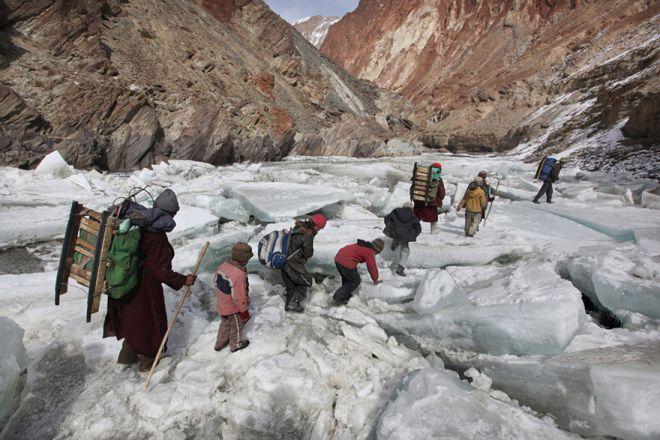 Дорога в школу-интернат через индийские Гималаи