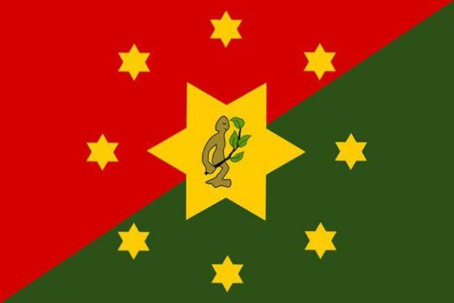 Флаг со звездами