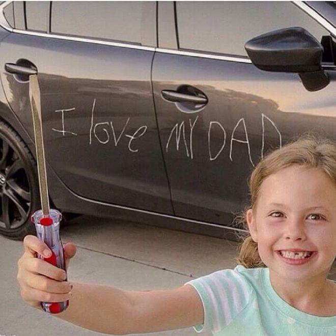 Вот как сильно я папу люблю!