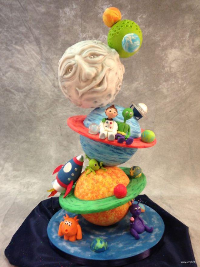 детский космический торт