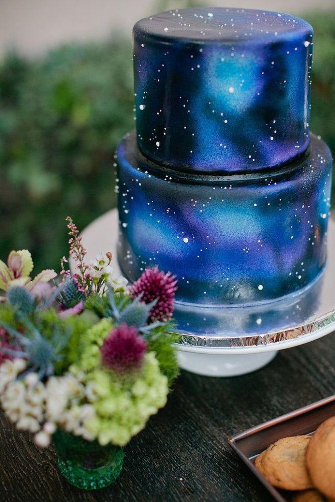 свадебный космический торт