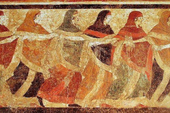 Женщины на фреске