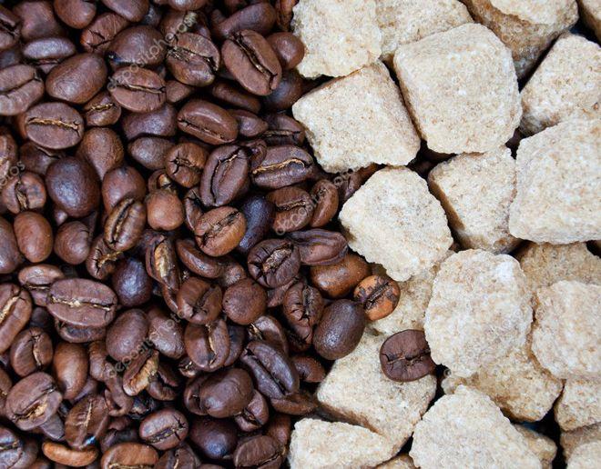 тростниковый сахар с кофе