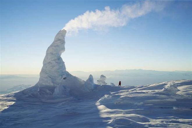 Дымящиеся снеговые трубы