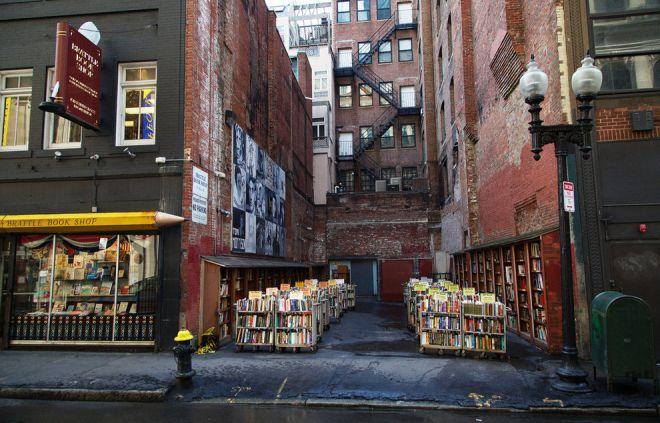 Креативный книжный магазин в Бостоне
