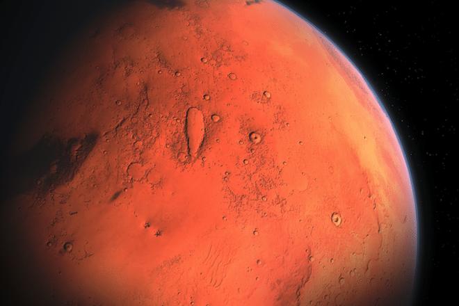 Марс вид из Космоса