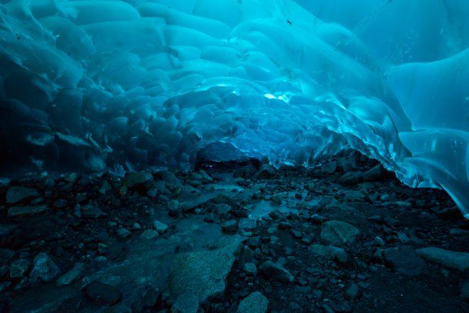 Пещеры ледника Менденхолла, Аляска 1