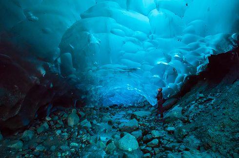 Пещеры ледника Менденхолла, Аляска 2