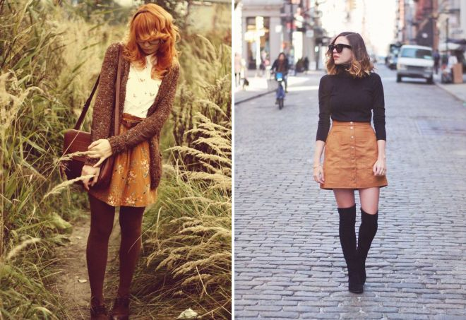 f7bd1cbca8d Коричневая юбка – с чем носить