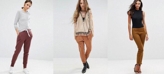 с чем носить коричневые женские брюки