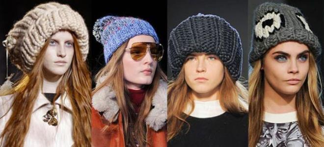 модные вязаные шапки зима 2016 2017 тренды для девушек и женщин
