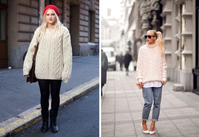 с чем носить свитер 7