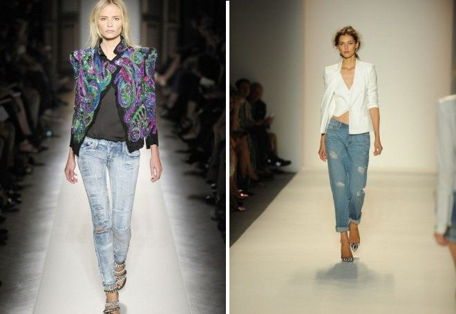 Пиджак с джинсами 12