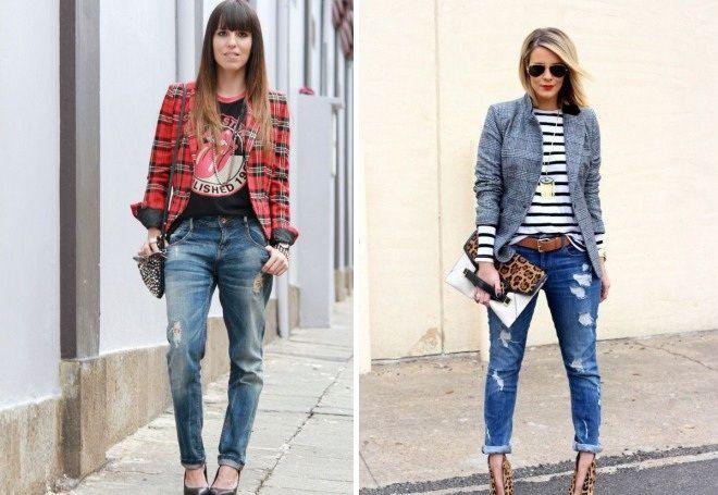Пиджак с джинсами 17