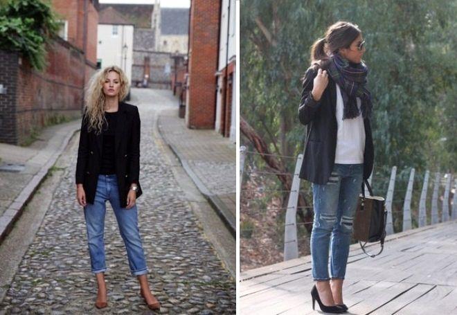 Пиджак с джинсами 4
