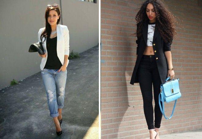 Пиджак с джинсами 7