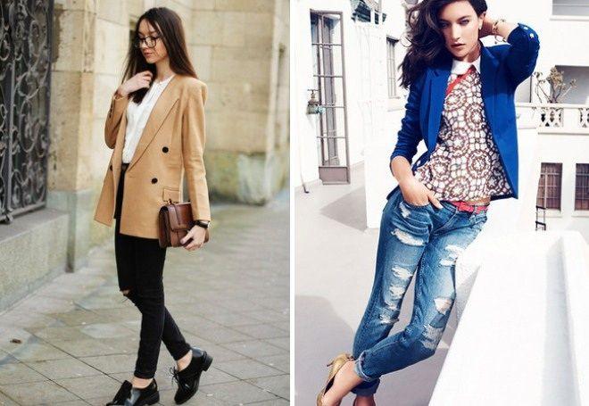 Пиджак с джинсами 9
