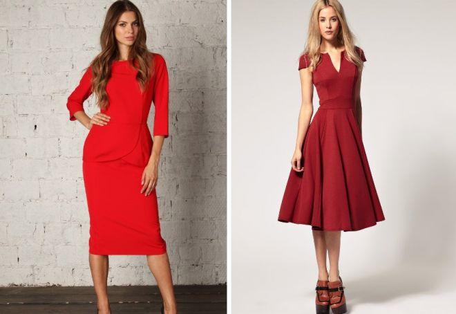 красное платье на новый год 10