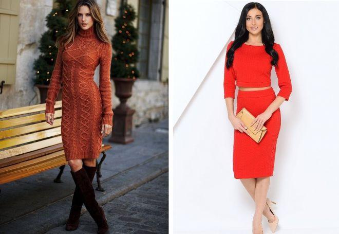 красное платье на новый год 11