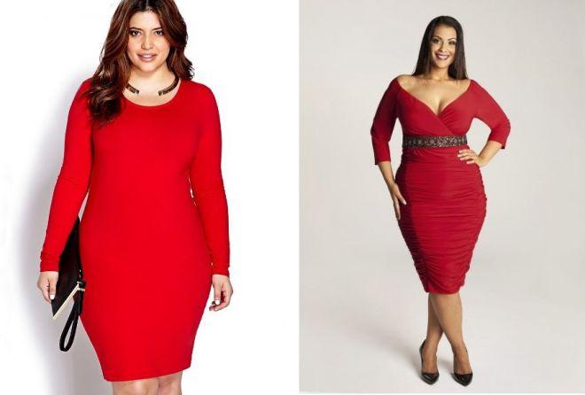 красное платье на новый год 12