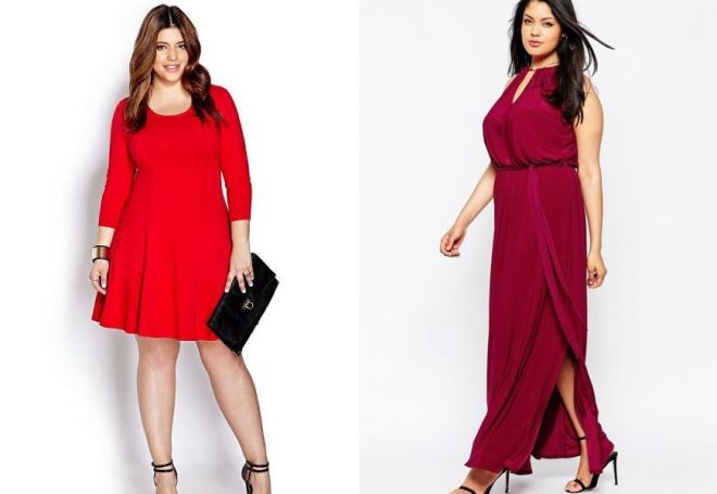 красное платье на новый год 13