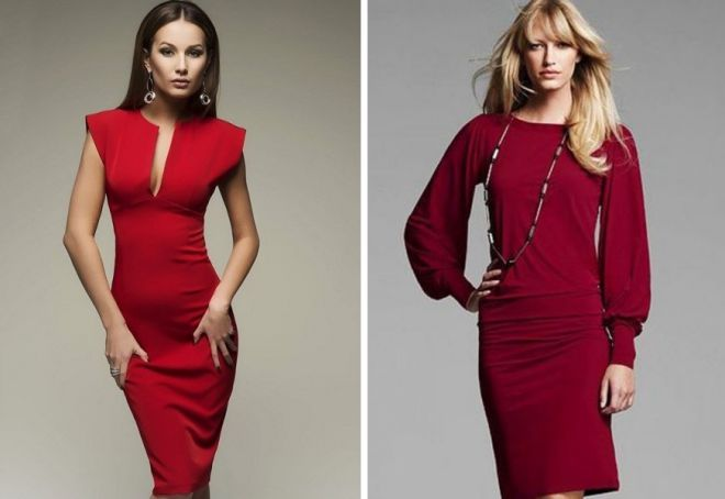 красное платье на новый год 15
