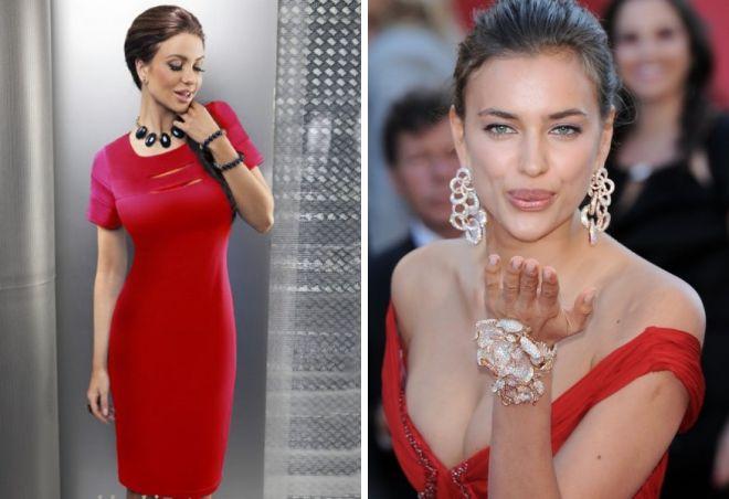 красное платье на новый год 16