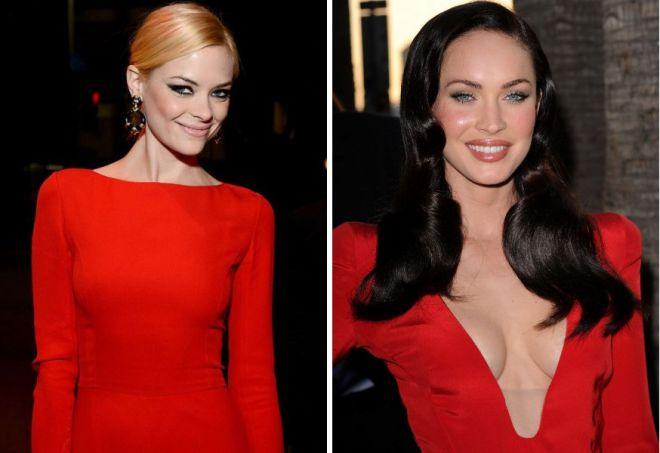 красное платье на новый год 18