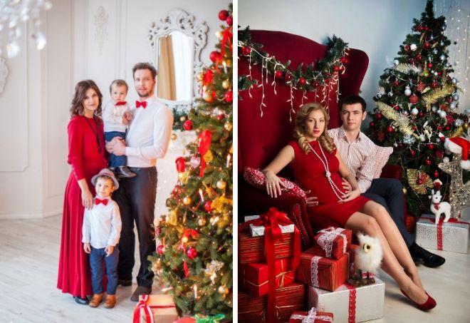 красное платье на новый год 23