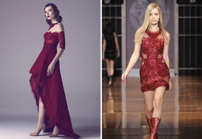 красное платье на новый год 3