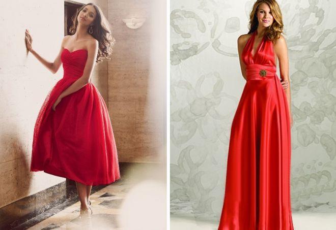 красное платье на новый год 4